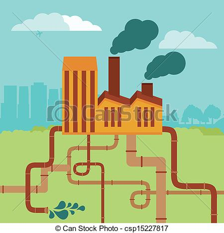 Factory clipart vector art Vector of landscape  and
