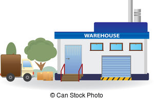 Factory clipart warehouse building For  Illustration 26 076
