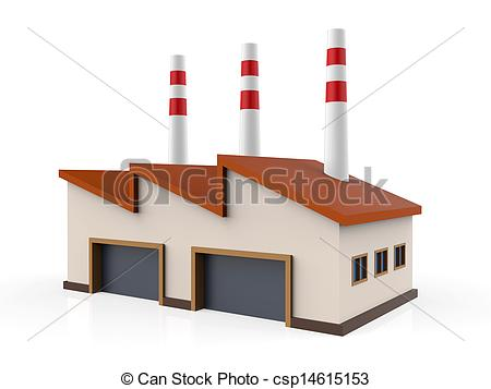 Factory clipart warehouse building Csp14615153 Industrial Factory isolated on