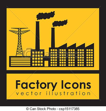 Factory clipart yellow Icons Vector over factory icons