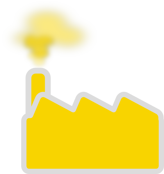 Factory clipart yellow Clip as: Art Factory image
