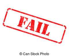 Fail clipart word  EPS Red Rubber Illustrations