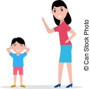 Fail clipart angry mother Illustration cartoon her of Son