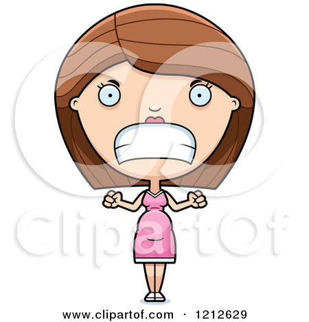 Dying clipart frustrated  Woman Mom (RF) Cartoon