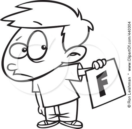Fail clipart bad report card Of card clipart Card Cartoon