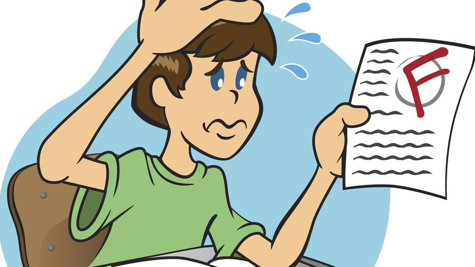 Fail clipart bad student F after dealing student for