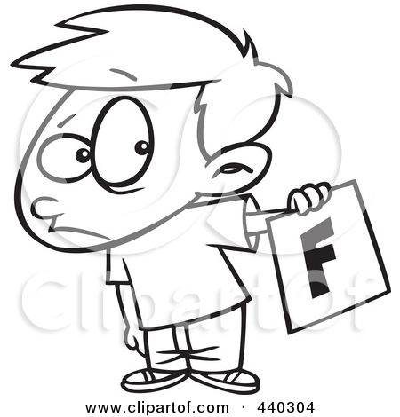 Fail clipart black and white White bad Collection Cartoon card