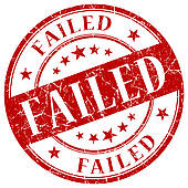 Fail clipart f grade FAILED Illustrations used Royalty Red