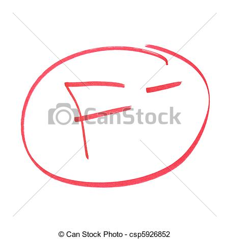 Fail clipart f grade Grade Clipart Failed F China