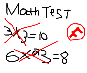 Fail clipart f grade F 12 math Failed 38