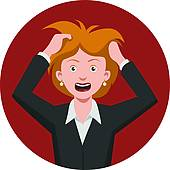 Fail clipart frustrated woman Cracks Failure Set And GoGraph