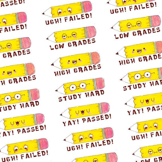 Fail clipart high grade Exam 13 Planner Cartoon SALE50OFF