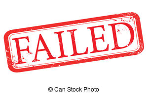 Fail clipart stamp Stamp Illustrations failed and