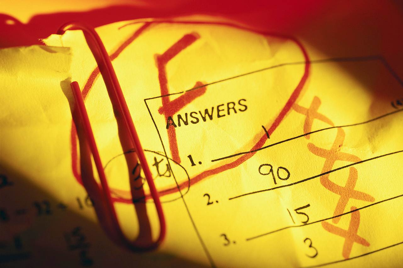 Fail clipart test score Walters and Fun desk Games