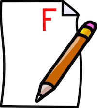 Fail clipart test score Panda Clipart Clip Free Clipart