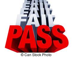 Fail clipart test score  Grade Pass Vs of