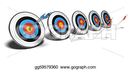 Fail clipart their Shadow over red targets background