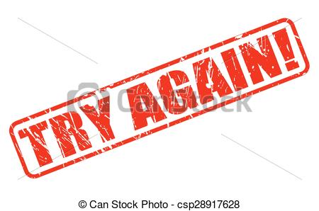 Fail clipart try again Text till try you red