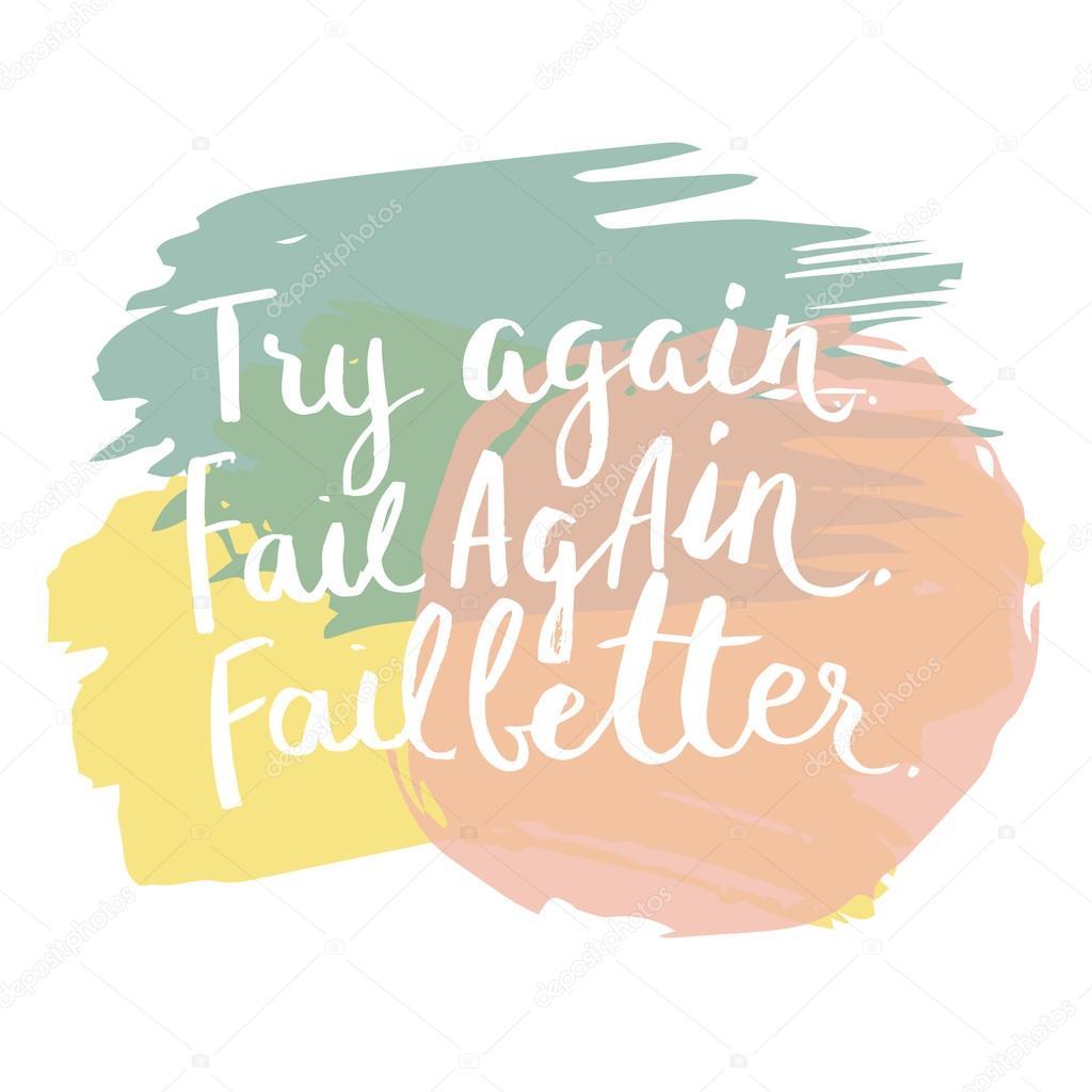 Fail clipart try again Drawn — fail quote