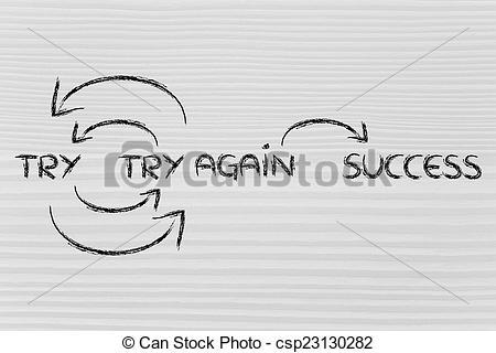 Fail clipart try again Again try try success fail