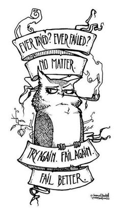 Fail clipart try again Failed haven't motto Owl My