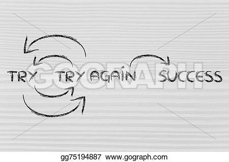 Fail clipart try again Fail  Clip Illustration Stock