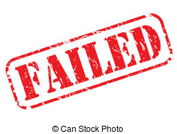 Fail clipart unsuccessful Stock red FAILED Illustration stamp