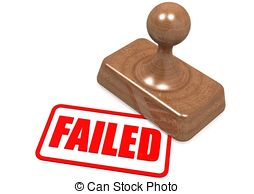 Fail clipart unsuccessful On artwork vector Clipartby wooden