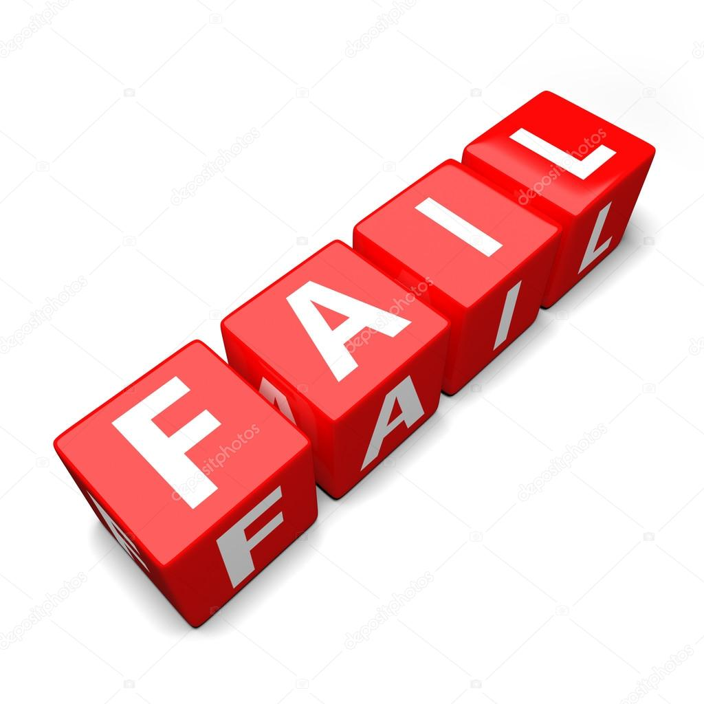 Fail clipart word — blocks of colorful word