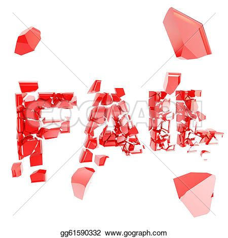 Fail clipart word Illustration Stock fail metaphor explosion