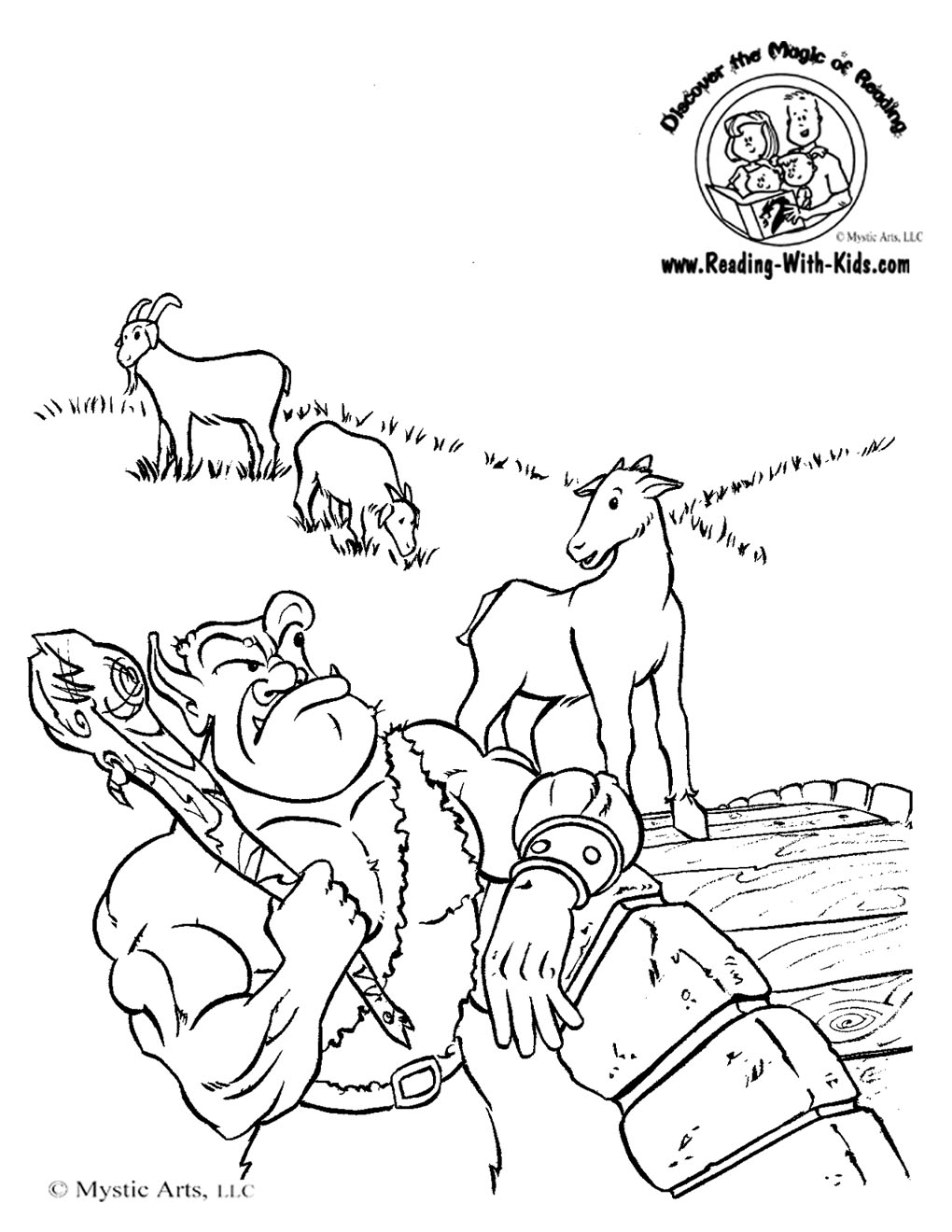Billy Goat clipart cartoon Three Gruff Pages Billy Coloring