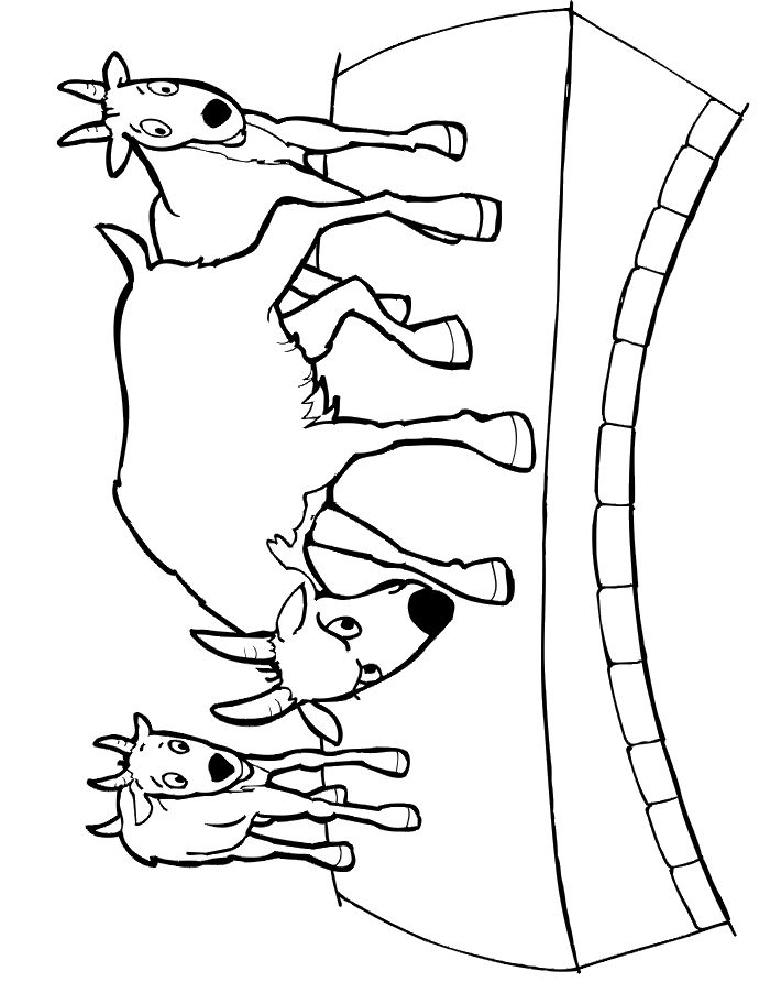 Billy Goat clipart colouring 98 billy images 3 The