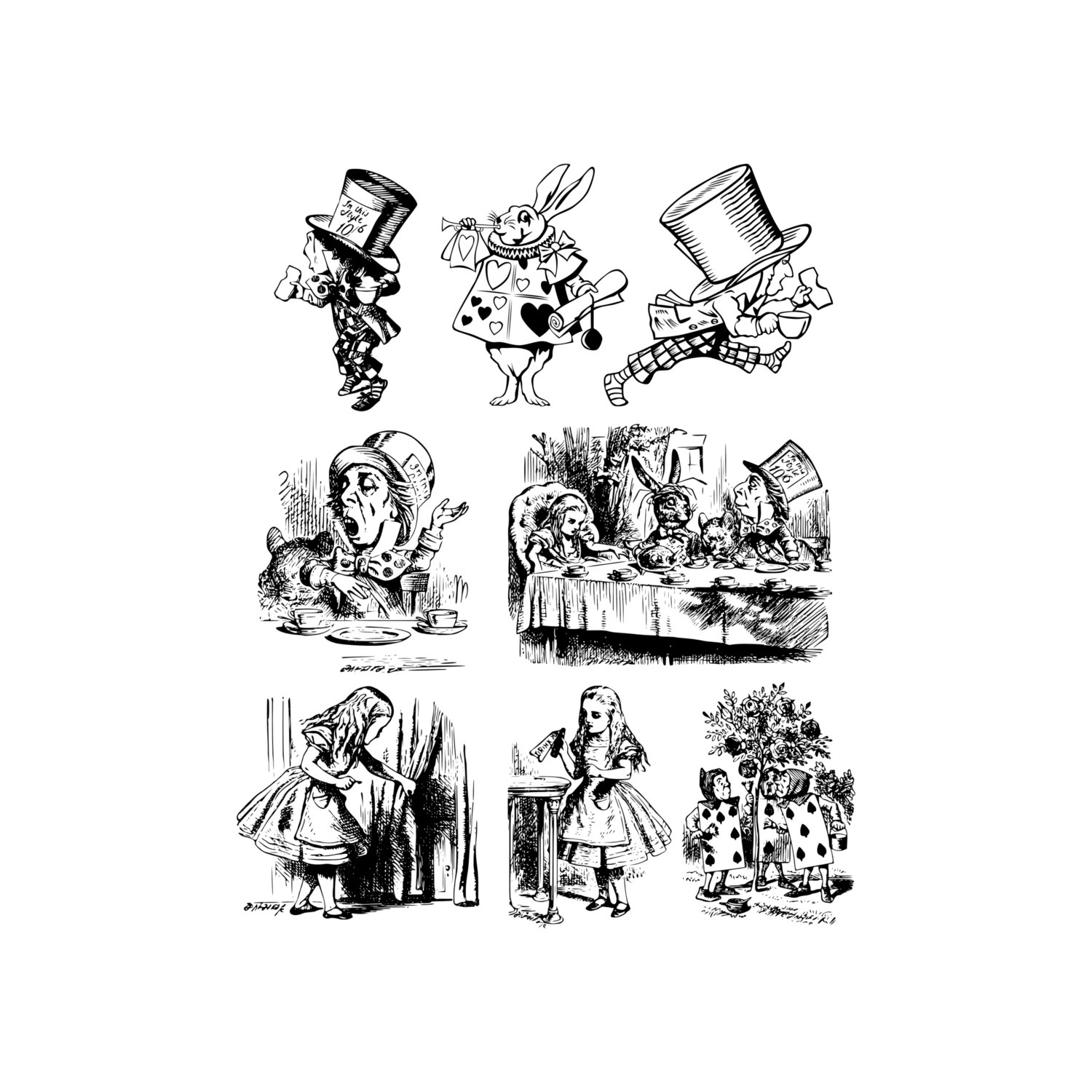 Alice In Wonderland clipart keyhole In digital a Wonderland Clipart