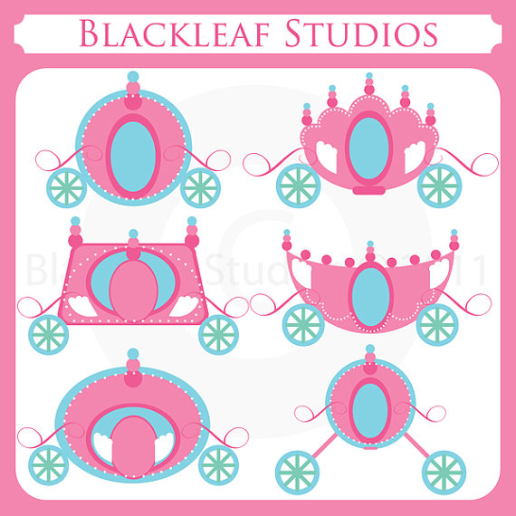 Carriage clipart princess baby Princess chariot chic  Carriages
