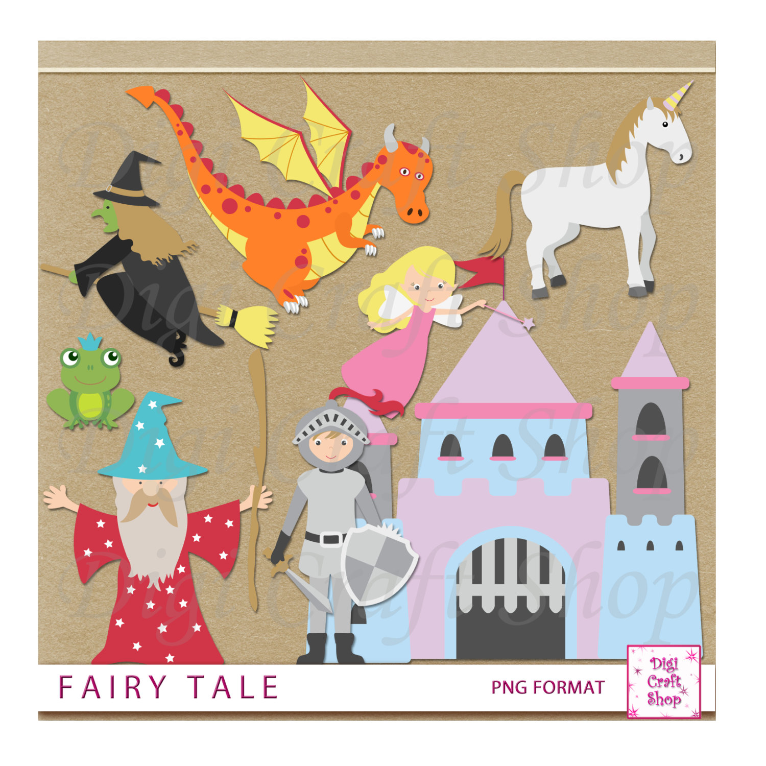 Witch clipart fairytale Wizard witch This Fairy digital