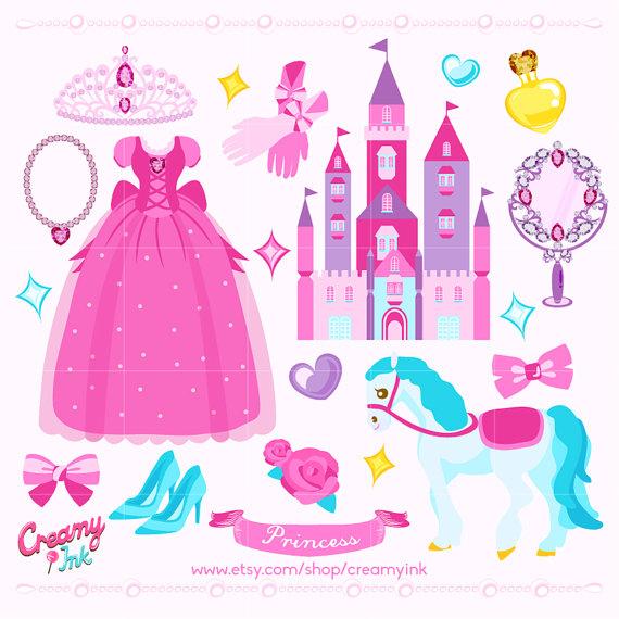 Birthday clipart princess Item? Like this Princess Digital