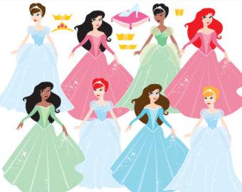 Wedding Dress clipart princess costume Cendrillon glass fairy use Princess