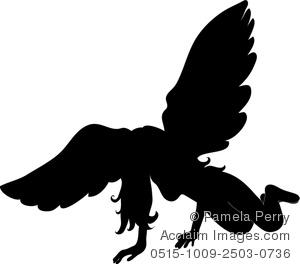Fallen Angel clipart Angel Fallen a Silhouette of
