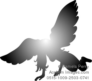 Fallen Angel clipart Angel Fallen a Silhouette of