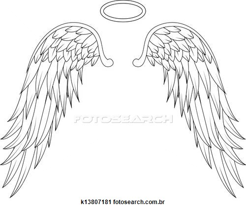 Wings clipart guardian angel Images art  angel Stock