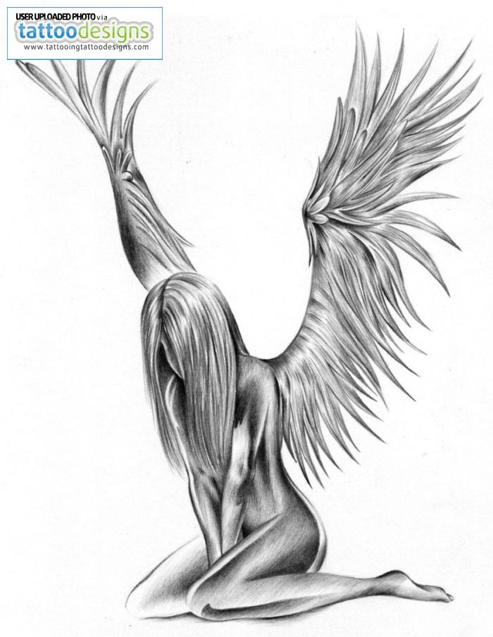 Drawn profile angel side Love my This angel is
