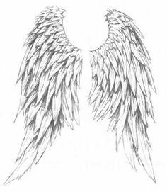 Drawn angel big wing Angel more wings edited by