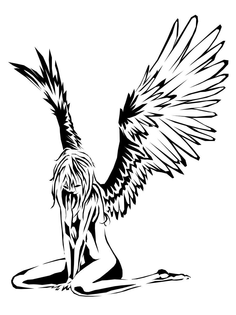 Fallen Angel clipart deviantart HEGERART HEGERART on DeviantArt by