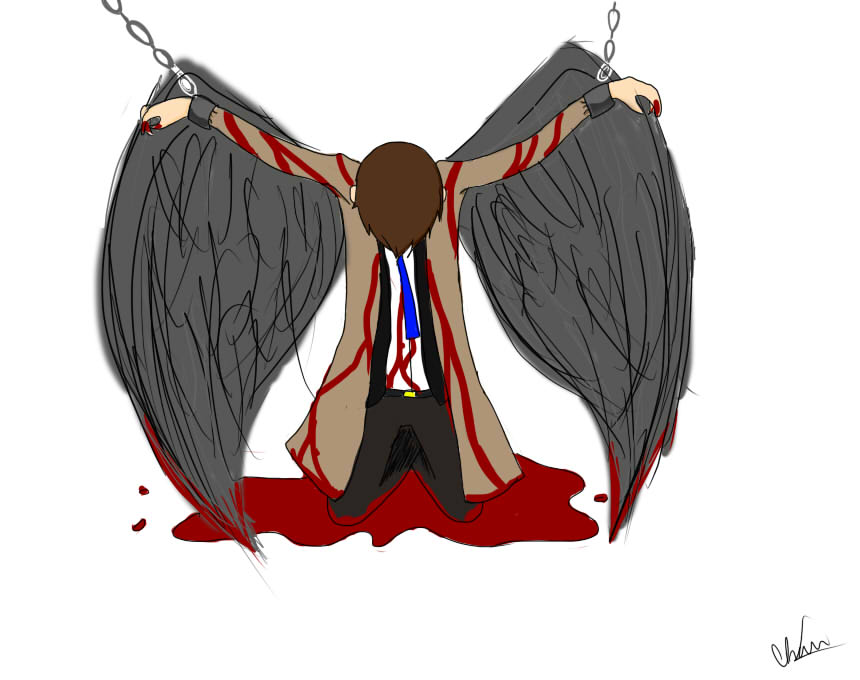 Fallen Angel clipart deviantart Angel on angel Castiel desuStrider