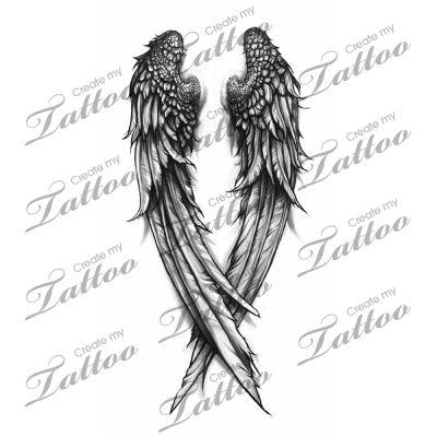 Drawn angel torn wing #4