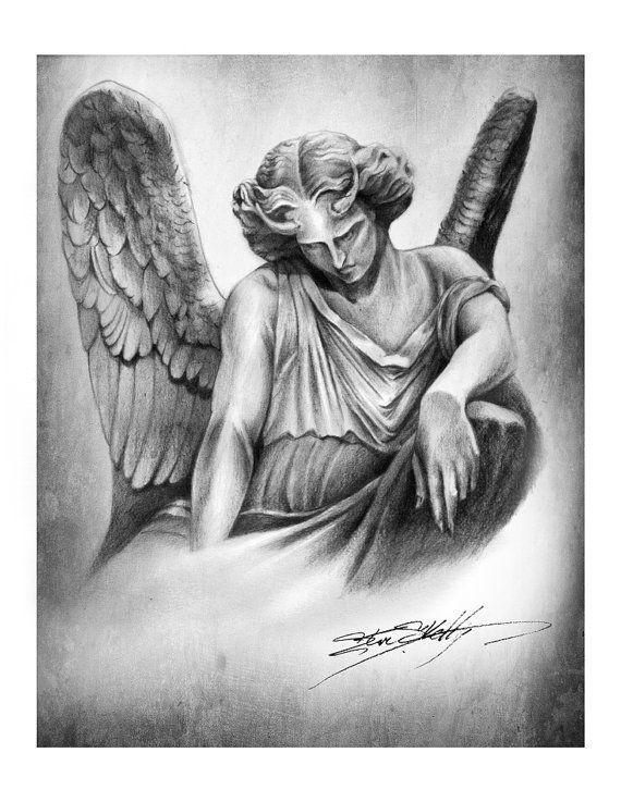 Fallen Angel clipart flash angel SteveSkellyART Tattoo best by Pencil