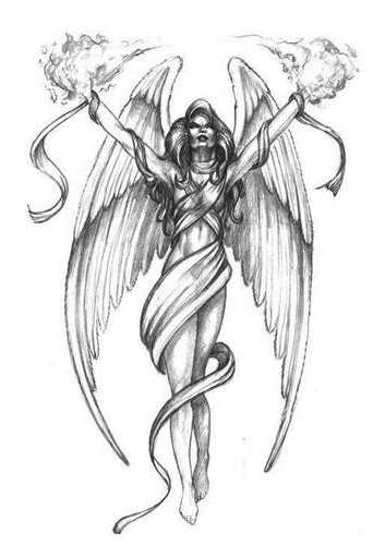 Fallen Angel clipart flash angel Female pictures Angels  Tattoo