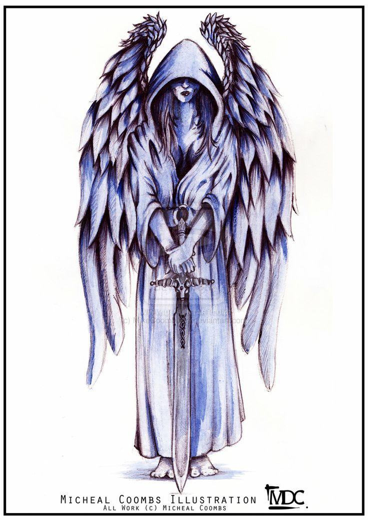 Drawn angel sword drawing #1