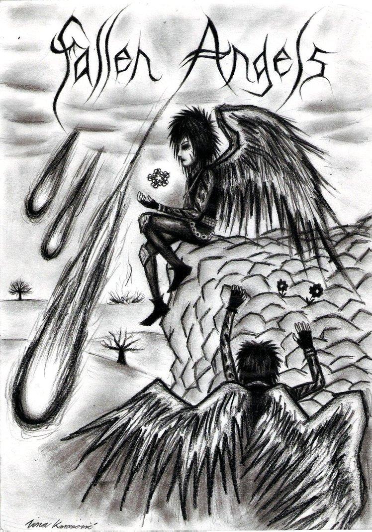 Fallen Angel clipart grey By Angels  Angel @deviantART