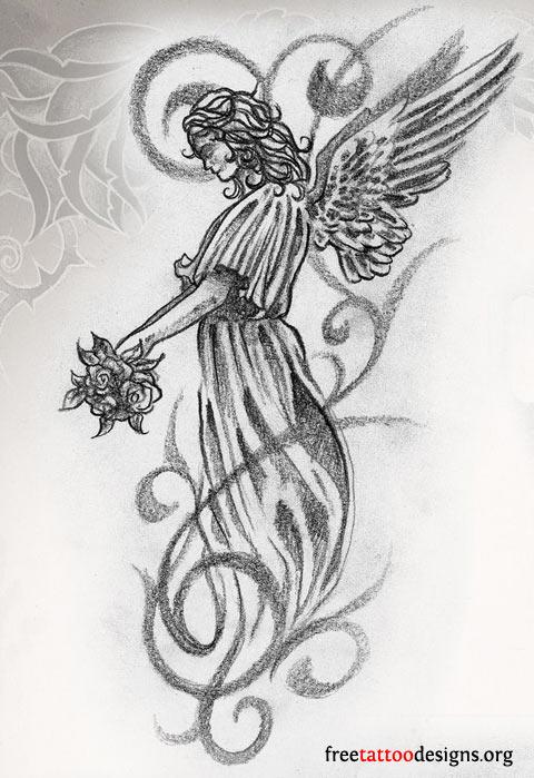 Fallen Angel clipart grey Angel And Design Ink Tattoo